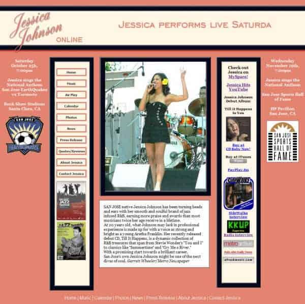 Jessica Johnson Website - San Jose, CA
