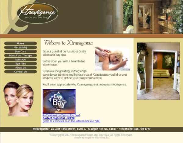 Xtravaganza Salon Website- Morgan Hill, CA