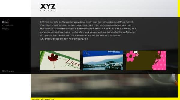 XYZ Press Website - San Jose, CA