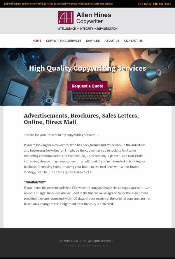 Allen Hines Website - Morgan Hill, CA