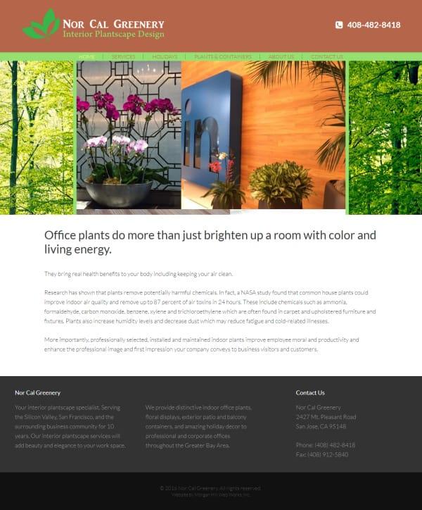 Nor Cal Greenery Website - San Jose, CA