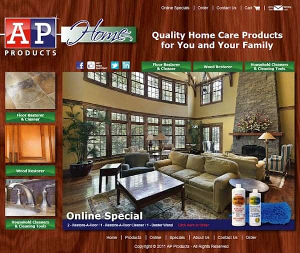 AP Products Website - Granite Bay, CA