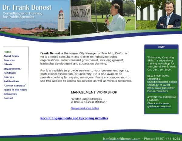 Frank Benest Website - Palo Alto, CA