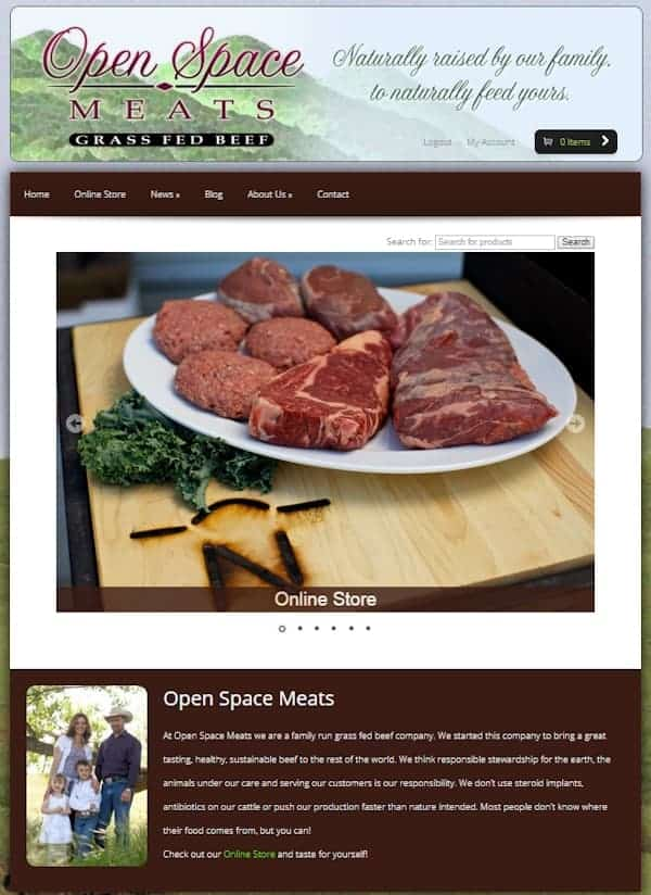 Open Space Meats Website - Newman, CA