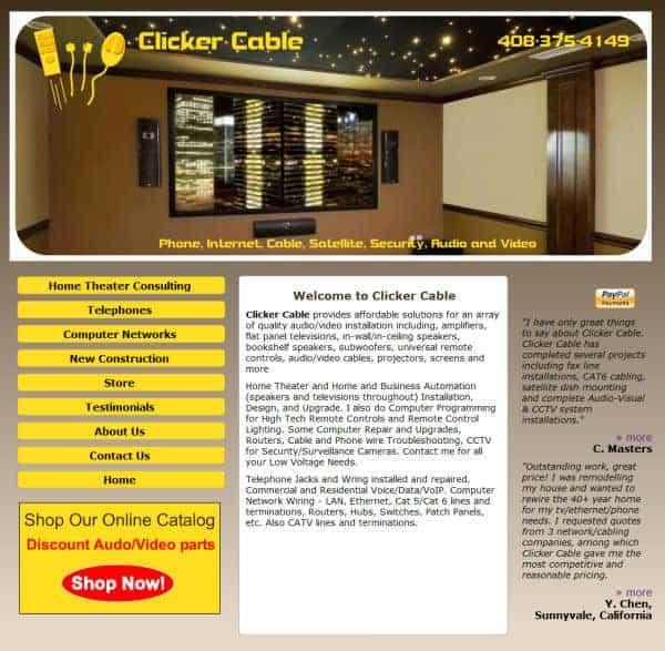 Clicker Cable Website - San Jose, CA