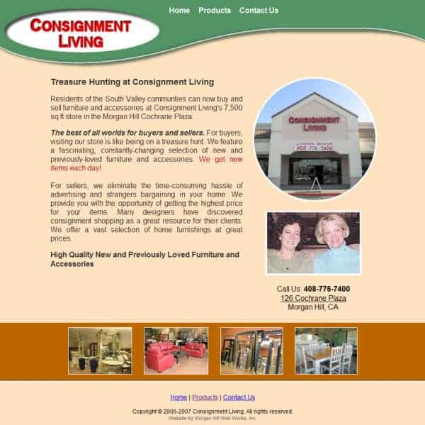 Consignment Living Website - Morgan Hill, CA