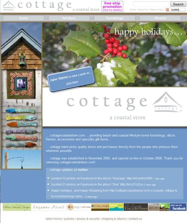 Cottage Coastal Store Website - Belvedere, CA