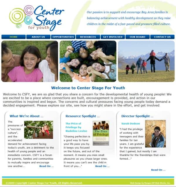 Center Stage for Youth Website
