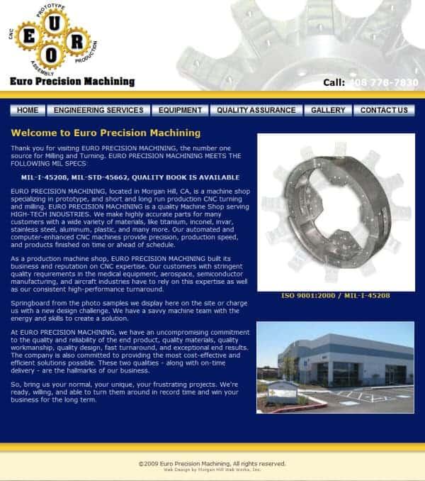 Euro Machining Machining - Santa Clara, CA