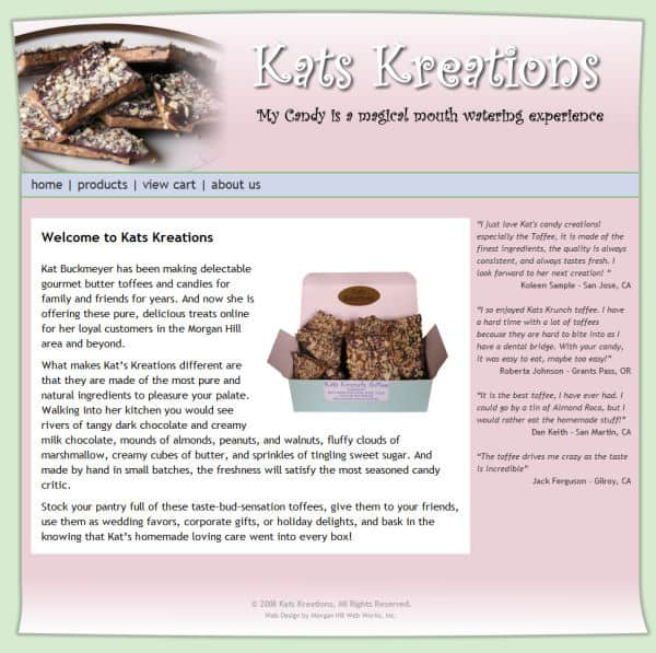 Kat's Kreations Website - Morgan Hill, CA