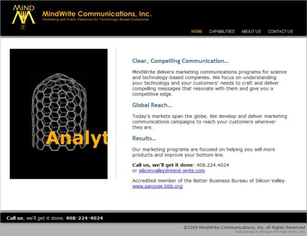 Mindwrite Website - San Jose, CA