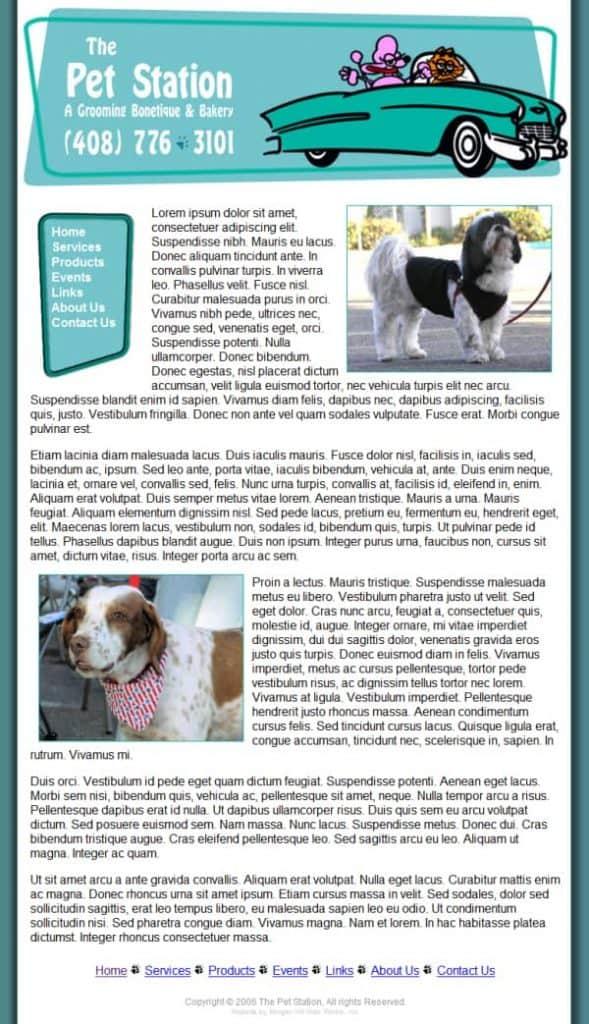 My Pet Station Website - Morgan Hill, CA