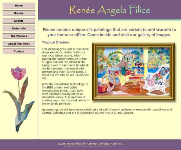 Renee Angela Filice Website- Morgan Hill, CA