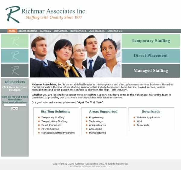 Richmar Associates Website - Santa Clara, CA