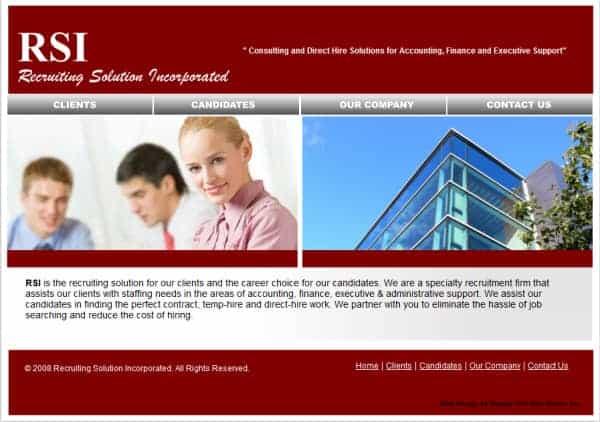 RSI - Recruiting Solutions Inc. Website - San Francisco, CA