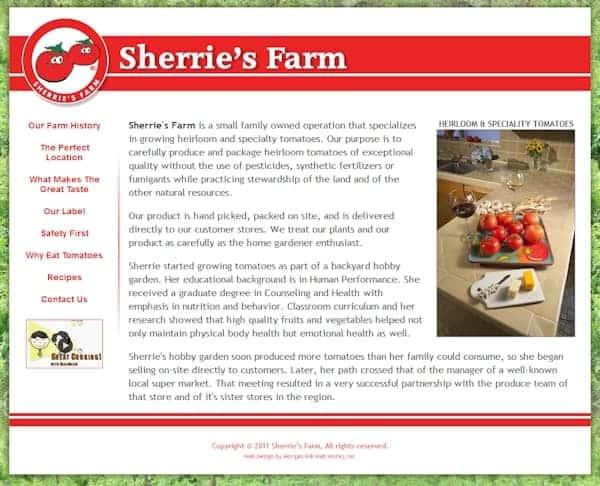 Sherries Farm Website - San Martin, CA