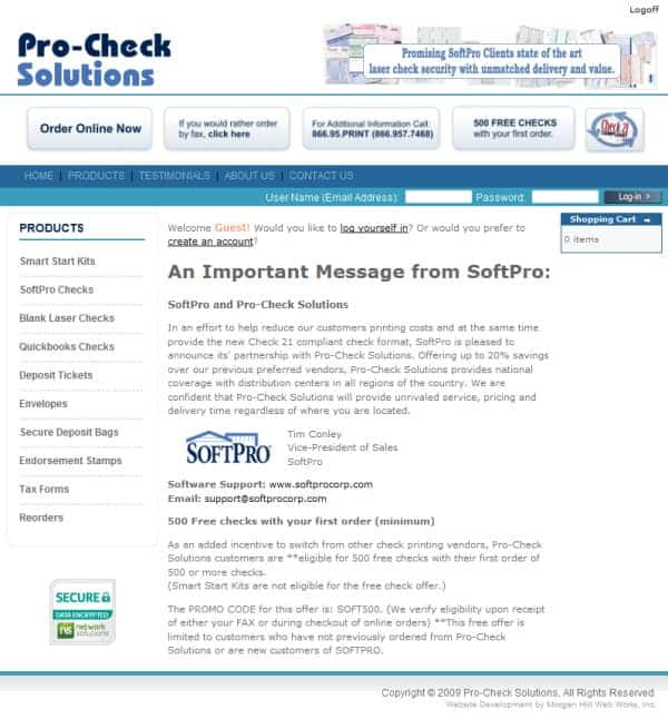Pro-Check Solutions Website - Gilroy, CA
