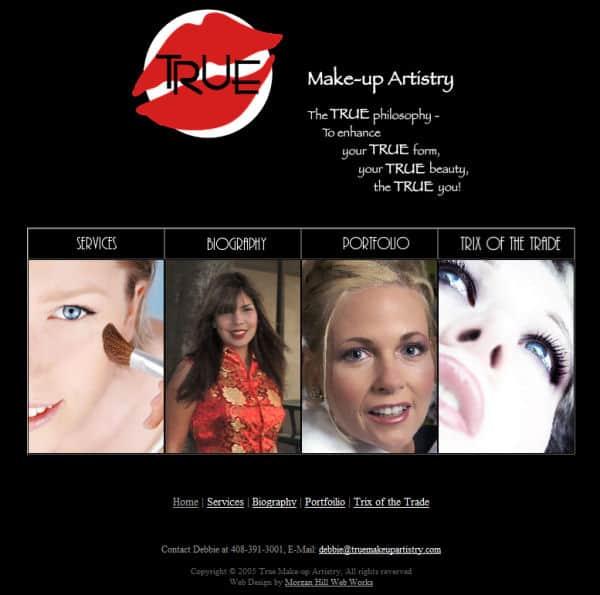 True Makeup Artistry Website - Morgan Hill, CA