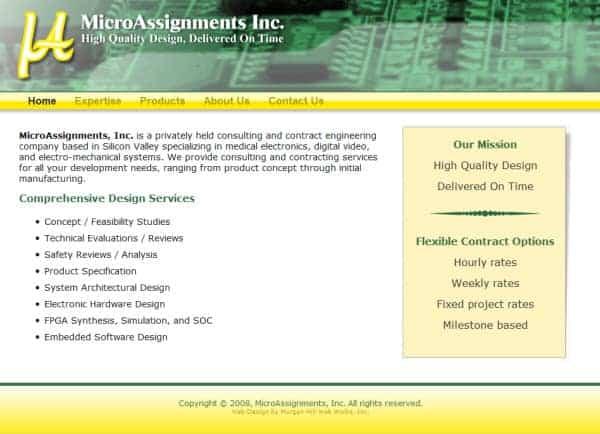 Micro Assignments Website - Morgan Hill, CA