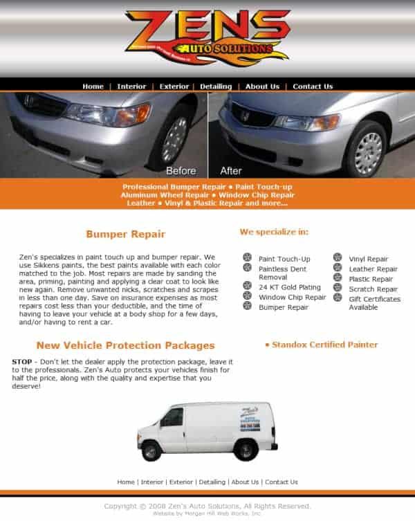 Zens Auto website - San Jose, CA