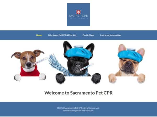 Sacramento Pet CPR website - Sacramento, CA